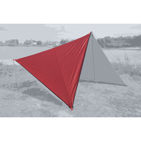 Bent Canvas Plain Teltpresenning Single, barbados cherry/zipper black